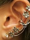 Lureme®Vintage Punk  Flowers Ear Clip Earring
