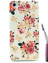 Rose Flower Pattern Hard Case & Touch Pen for iPhone 5/5S