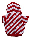Cat / Dog Hoodie Red Dog Clothes Winter / Spring/Fall Stripe Casual/Daily