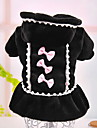 Dog Dress Black / Pink Dog Clothes Winter Pearl / Bowknot