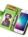 Pour Coque iPhone 6 Coques iPhone 6 Plus Etuis coque Portefeuille Avec Support Clapet Coque Integrale Coque Couleur unie Dur Cuir PU pour