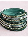 Leather Bracelets Twice New Arrivals Popular Copper Piece Diamond Dark Green