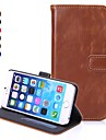 Pour Coque iPhone 6 / Coques iPhone 6 Plus Portefeuille / Porte Carte / Avec Support / Clapet Coque Coque Integrale Coque Couleur Pleine