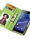 portefeuille soft touch pu étui en cuir pour Sony Xperia Z2