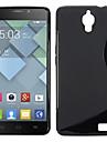 s forma simples caso tpu gel design suave para Alcatel One ídolo toque x 6040 6040a 6040d (cores sortidas)
