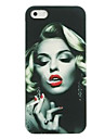 Somking Marilyn Monroe Pattern Hard Case for iPhone 4/4S