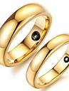 Кольца Свадьба / Для вечеринок / Повседневные Бижутерия Сплав Пара Кольца для пар8 Золотой