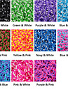BaoGuang®600PCS Rainbow Color Loom Wave Point Fashion Loom Rubber Band(1Package S Clip)