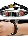 Муж. Кожаные браслеты Кожа Уникальный дизайн Мода Бижутерия Черный Бижутерия 1шт