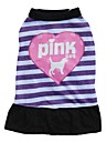 Cat / Dog Dress / Clothes/Clothing Pink / Purple Spring/Fall Hearts