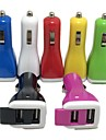 Dual Port Car Charger USB Adapter 2.1A/1A for iPad iPhone 4/4s/5/5s/5c(Assorted Color)