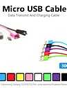 3m V8 Micro USB Colors Round Data Cable for Samsung and Other Phone(Assorted Color)