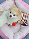 Cat / Dog Shirt / T-Shirt Yellow Dog Clothes Summer Stripe Wedding / Cosplay
