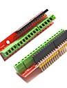 Винт щит расширения v2 терминал доски для Arduino - красный (2 шт)