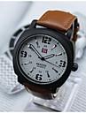Men\'s Fashion Analog Quartz Watch Leather Band Wrist Watch(Assorted Colors)
