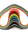 120шт 3mmx53cm рюш бумаги (24 цветов x5 шт / цвет) DIY Craft художественное оформление