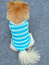 Cat / Dog Shirt / T-Shirt Red / Blue Summer Stripe Cosplay