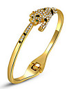 cadeaux noel roxi bracelets femmes classiques de leopard, de veritables cristaux autrichiens, platedbracelet or, Chrismas