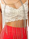 новые женщины серебристого металла половина тела цепи рубашки волны кисточкой necklack 2014 Fash