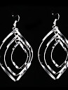 Earring Drop Earrings Jewelry Women Party Silver / Sterling Silver Silver