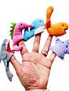 5шт морских животных плюшевые палец куклы дети говорить опору