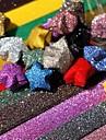 materiales origami lucky star polvo brillo (20 páginas / 1 color / paquete de color al azar)