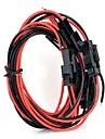 2pin шт шнуры - черный + красный (5 шт / 40 см)