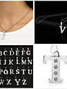 Necklace Pendant Necklaces Jewelry Party Daily Casual Initial Jewelry Alloy Gift Silver