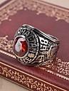 Кольцо Массивные кольца Рубин Имитация Рубин Драгоценный камень Крестообразной формы Камни по месяцу рождения Красный Бижутерия