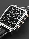 panoptes argus moda personalizados - reloj de la correa de cuero de linea cuadrada triple movimiento militar de los hombres