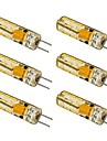 1.5W G4 LED лампы типа Корн T 24 SMD 3014 100-120 lm Тёплый белый / Холодный белый AC 12 V 6 шт.