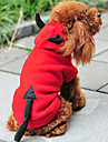 Dog Coat / Hoodie Red Dog Clothes Winter Angel & Devil