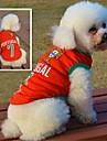 고양이 / 개 티셔츠 레드 강아지 의류 여름 스포츠 웨딩 / 코스프레