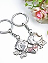Personalized Engraving  Metal Couple Keychain