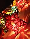 jiawen® 4м 20leds RGB LED пентаграмма формы строку света Рождественский свет шнура для украшения (ас 110-220v)