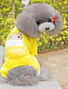 Dog Pants / Clothes/Clothing Yellow Winter Animal / Cartoon Cosplay
