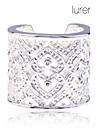 женская lureme 925 2.2cm серебро покрытием полых сердца открытыми кольцо