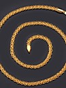 Golden Choker Necklaces / Chain Necklaces Gold Plated Wedding / Party / Daily / Casual / Sports Jewelry