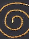 Dourado Gargantilhas / Colares em Corrente Chapeado Dourado Casamento / Pesta / Diario / Casual / Esportes Joias