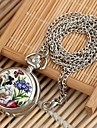 Women's Flower&Butterfly Pattern Round Dial Alloy Quartz Necklace Watch White K (1Pc) Cool Watches Unique Watches