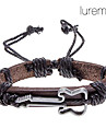 Lureme®Unisex Violin Fabric Leather Bracelet(Random Color)