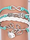 Bracelets Wrap/Bracelets en cuir ( Alliage/Cuir ) Soiree/Quotidien/Casual