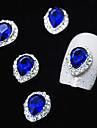 모조 다이아몬드 라인 합금 물 드롭 손가락 끝 네일 아트 장식 10PCS 사파이어 크리스탈