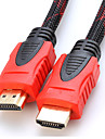 YONG WEI® 2M 6.56FT HDMI V1.4 3D 1080P Male to Male High Speed Cable