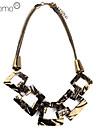 lureme®gold colar banhado a liga em forma de quadrado