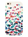 Colorful Heart Pattern Back Case for iPhone 4/4S