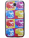 Cartoon Bus Pattern Back Cover for Samsung Galaxy S4 I9500