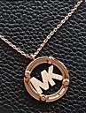 lettres mk de la mode collier pendentif pendentif en alliage d'or (1 pc)