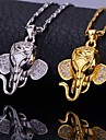 Golden / Silver Pendant Necklaces Alloy / Cubic Zirconia / Platinum Plated / Gold Plated Wedding / Party / Daily / Casual / Sports Jewelry