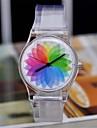 Женские Модные часы Кварцевый Японский кварц Plastic Группа Радужный Разноцветный марка